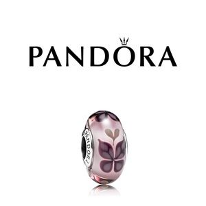 Pandora Butterfly Kisses Murano Glass Charm